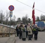 In Ogre, people commemorate the deportation victims of March 25, 1949
