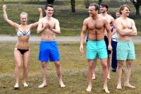Ogre`s 'seals' concludes  winter swimming season (photo coverage)