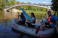 Take a part in the regatta at Arch pedestrian bridge in Ogre
